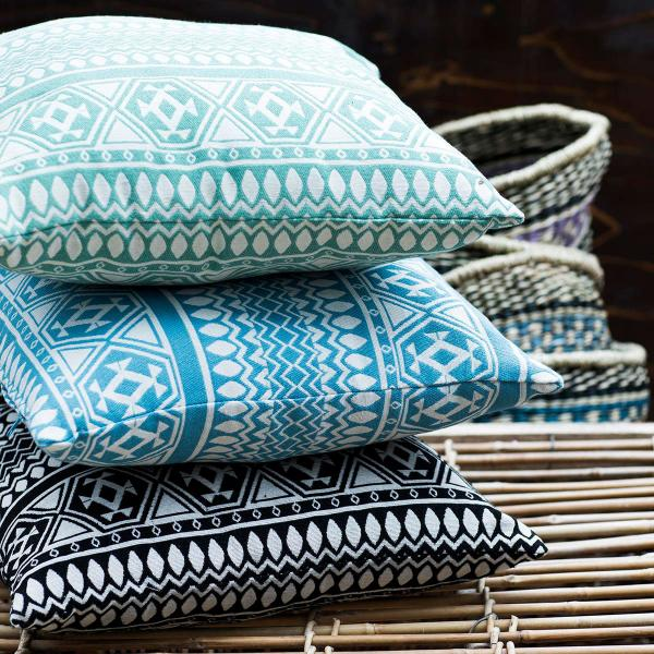 Aztec print cushions by Flying Tiger Copenhagen at the O2 Centre