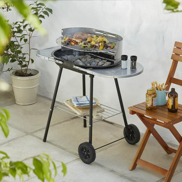 Jumbuck oval trolley charcoal BBQ from Homebase O2 Centre