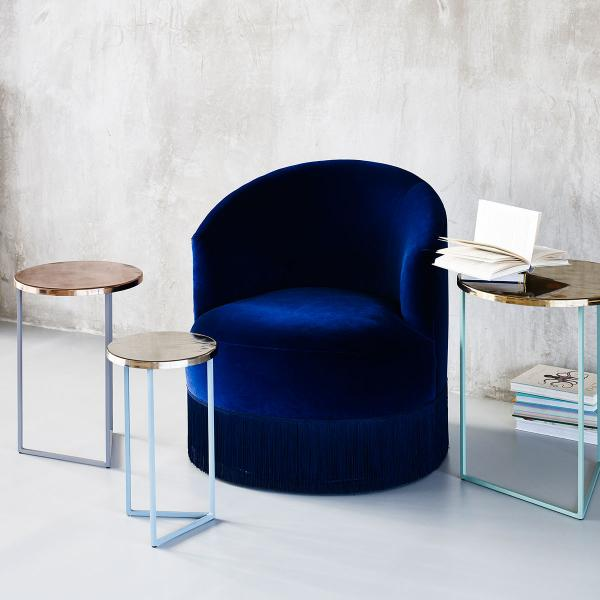 Inky blue furniture by Oliver Bonas at the O2 Centre