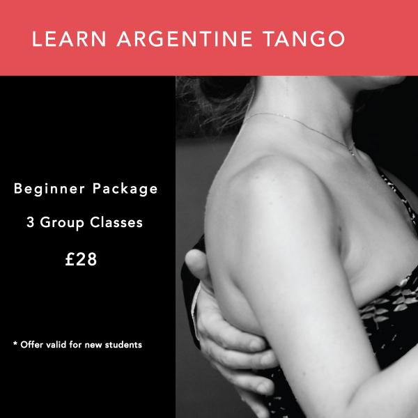 Advert for learning Argentine Tango at The O2 Centre