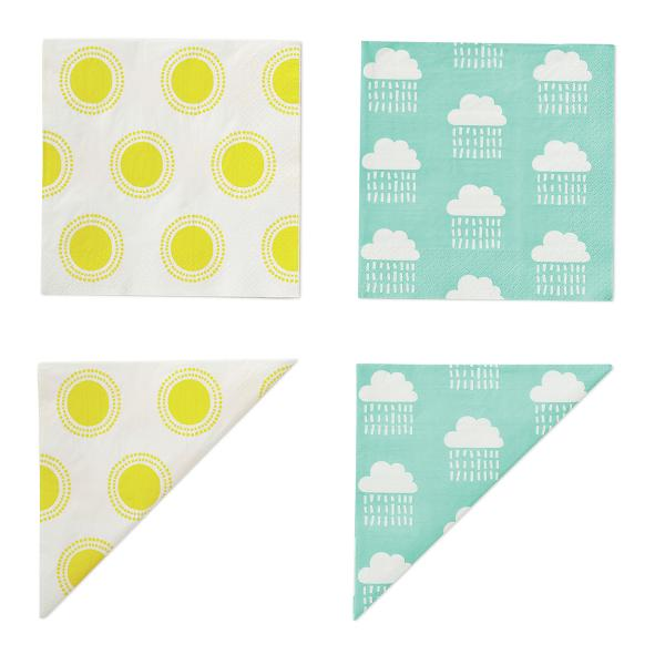Weather napkins from Flying Tiger Copenhagen, O2 Centre